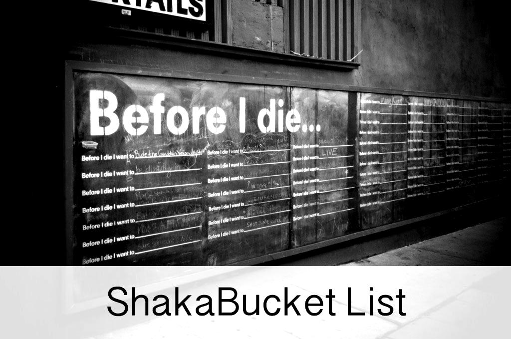 ShakaBucket List